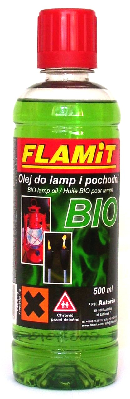 Olej do lamp i pochodni BIO 500ml Zielony