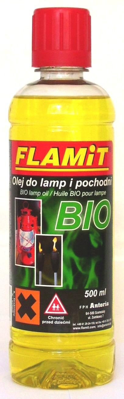 Olej do lamp i pochodni BIO 500ml Zółty